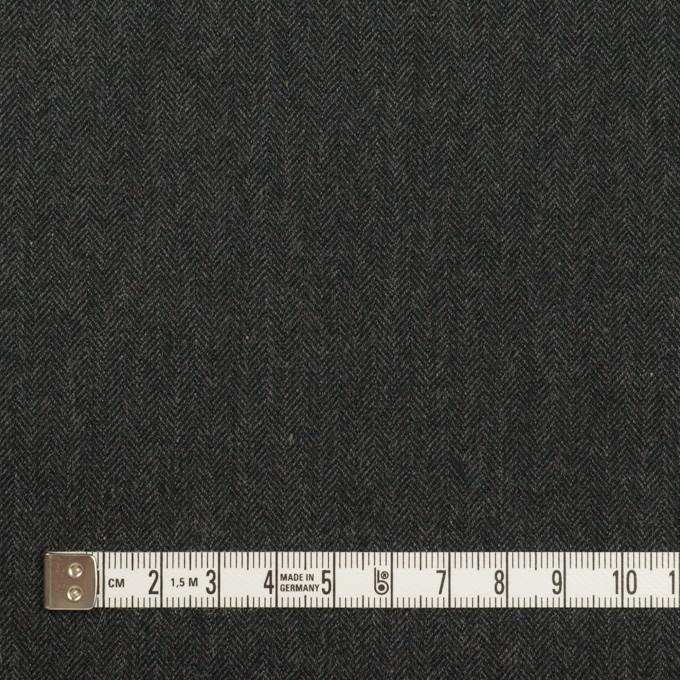 コットン&ポリウレタン×無地(チャコール)×ヘリンボーン・ストレッチ イメージ4