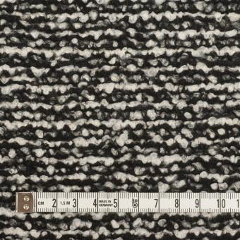 ウール&モヘア混×ミックス(アイボリー&ブラック)×ファンシーニット_イタリア製 サムネイル4