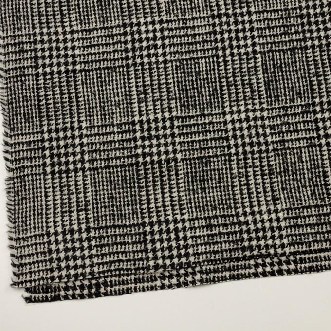 ウール×チェック(アイボリー&ブラック)×ファンシーツイード イメージ2