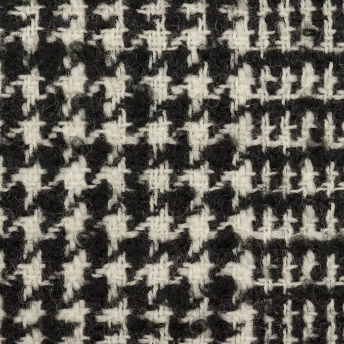 ウール×チェック(アイボリー&ブラック)×ファンシーツイード イメージ1