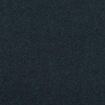 ウール×無地(ミッドナイトブルー)×フラノ(フランネル)