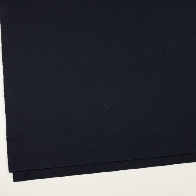 ウール×無地(ダークネイビー)×フラノ(フランネル) イメージ2
