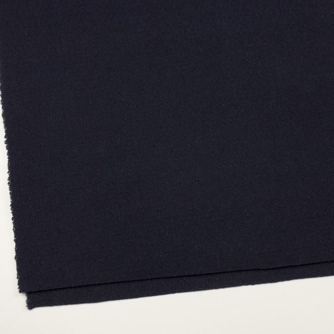 ウール&アクリル混×無地(ネイビー)×斜子織 イメージ2