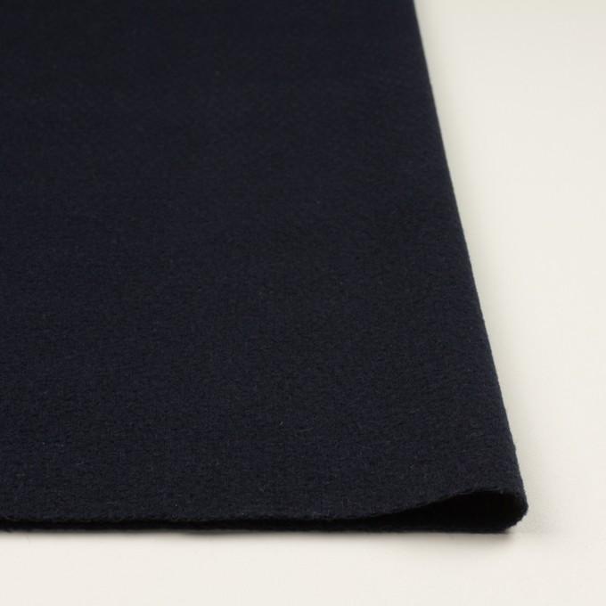ウール&アクリル混×無地(ネイビー)×斜子織 イメージ3