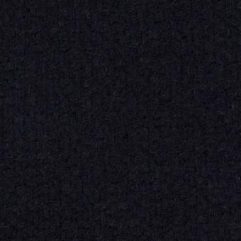 ウール&アクリル混×無地(ネイビー)×斜子織