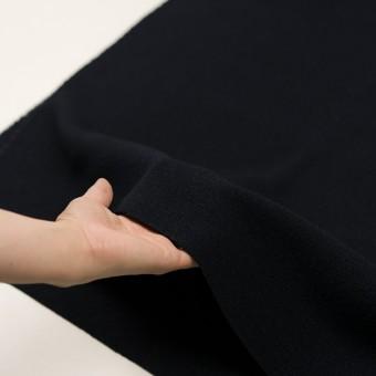 ウール&アクリル混×無地(ネイビー)×斜子織 サムネイル5
