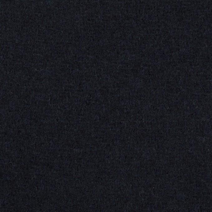 ウール×無地(ネイビー)×メルトン イメージ1
