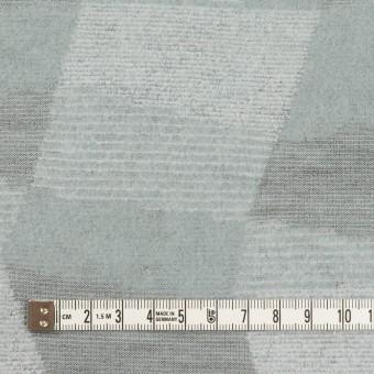 ポリエステル&アクリル×幾何学模様(ブルーグレー)×ジャガードニット サムネイル4