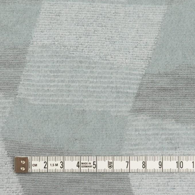 ポリエステル&アクリル×幾何学模様(ブルーグレー)×ジャガードニット イメージ4