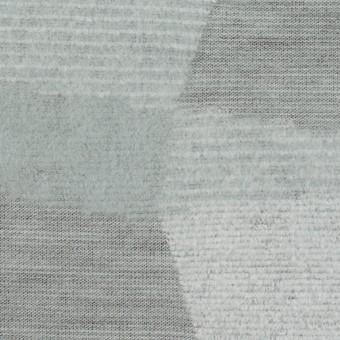 ポリエステル&アクリル×幾何学模様(ブルーグレー)×ジャガードニット サムネイル1