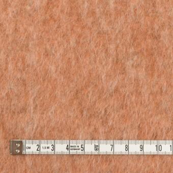 ポリエステル&ウール混×無地(ラスティーオレンジ)×フリースニット_イタリア製 サムネイル4