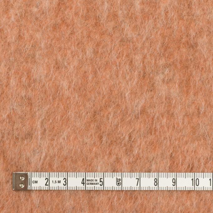 ポリエステル&ウール混×無地(ラスティーオレンジ)×フリースニット_イタリア製 イメージ4