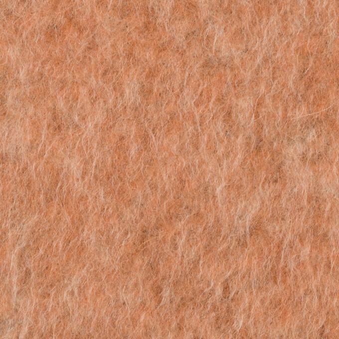 ポリエステル&ウール混×無地(ラスティーオレンジ)×フリースニット_イタリア製 イメージ1