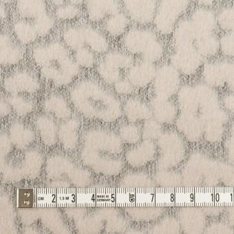 ウール&ポリエステル×レオパード(ピンクベージュ&グレー)×ジャガード サムネイル4