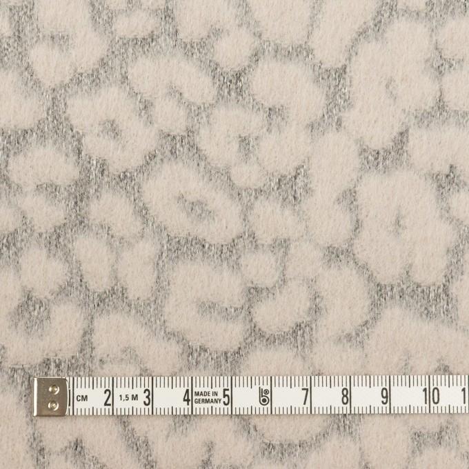 ウール&ポリエステル×レオパード(ピンクベージュ&グレー)×ジャガード イメージ4
