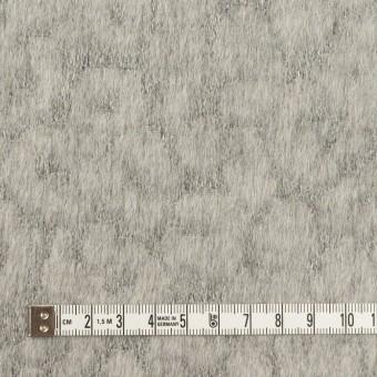 ウール&ポリエステル×レオパード(グレー)×ジャガード サムネイル4