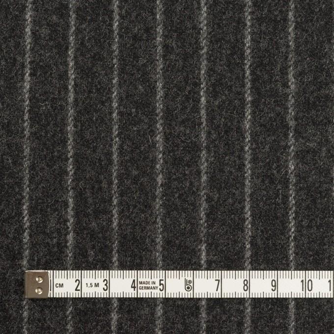 ウール&ポリウレタン×ストライプ(チャコールグレー)×ツイードストレッチ イメージ4