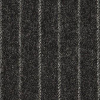 ウール&ポリウレタン×ストライプ(チャコールグレー)×ツイードストレッチ サムネイル1