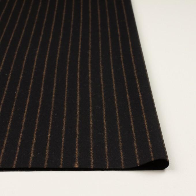ウール&ポリウレタン×ストライプ(ブラック&キャメル)×ツイードストレッチ イメージ3
