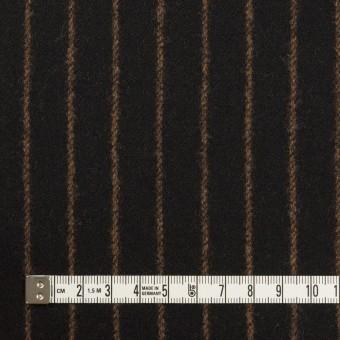 ウール&ポリウレタン×ストライプ(ブラック&キャメル)×ツイードストレッチ サムネイル4