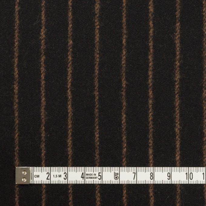 ウール&ポリウレタン×ストライプ(ブラック&キャメル)×ツイードストレッチ イメージ4