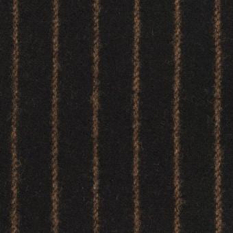 ウール&ポリウレタン×ストライプ(ブラック&キャメル)×ツイードストレッチ サムネイル1