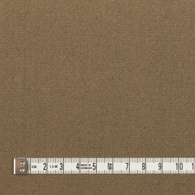 ウール×チェック(ベージュ、モカ&カーキグリーン)×かわり織 イメージ6