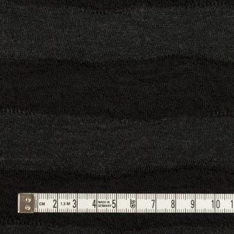 ウール×ボーダー(チャコールグレー)×天竺ニット サムネイル4