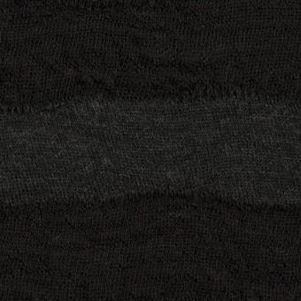 ウール×ボーダー(チャコールグレー)×天竺ニット