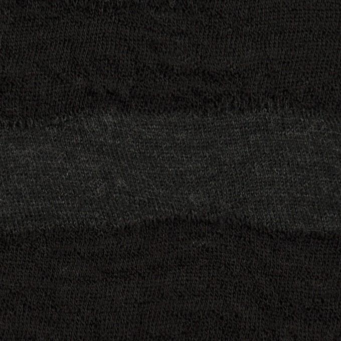 ウール×ボーダー(チャコールグレー)×天竺ニット イメージ1
