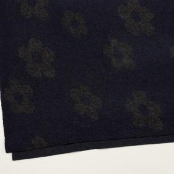 ウール&ナイロン×フラワー(ネイビー&グレー)×ループジャガードニット_全2色 サムネイル2