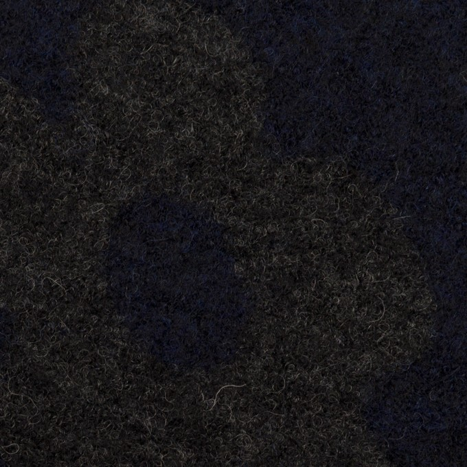 ウール&ナイロン×フラワー(ネイビー&グレー)×ループジャガードニット_全2色 イメージ1