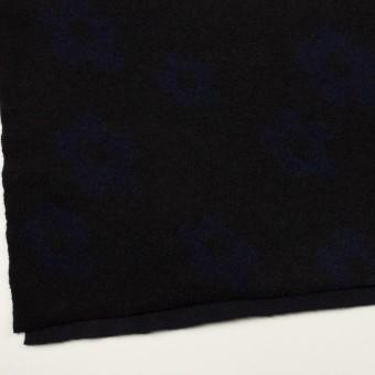 ウール&ナイロン×フラワー(ブラック&ネイビー)×ループジャガードニット_全2色 サムネイル2