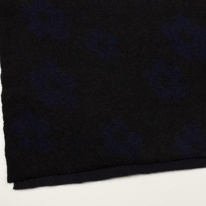ウール&ナイロン×フラワー(ブラック&ネイビー)×ループジャガードニット_全2色 イメージ2