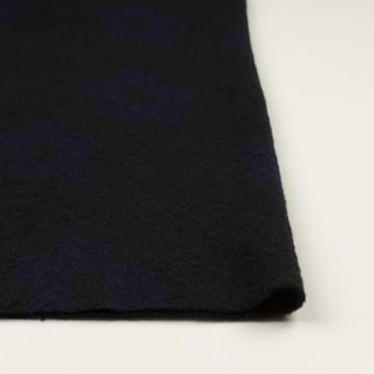 ウール&ナイロン×フラワー(ブラック&ネイビー)×ループジャガードニット_全2色 サムネイル3
