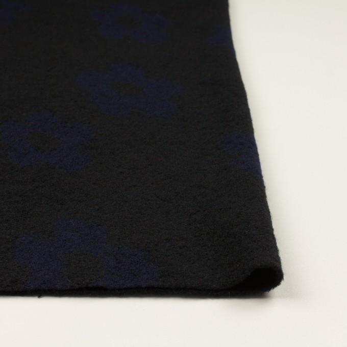 ウール&ナイロン×フラワー(ブラック&ネイビー)×ループジャガードニット_全2色 イメージ3