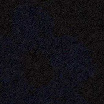 ウール&ナイロン×フラワー(ブラック&ネイビー)×ループジャガードニット_全2色