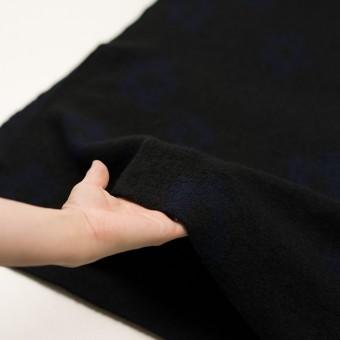 ウール&ナイロン×フラワー(ブラック&ネイビー)×ループジャガードニット_全2色 サムネイル5