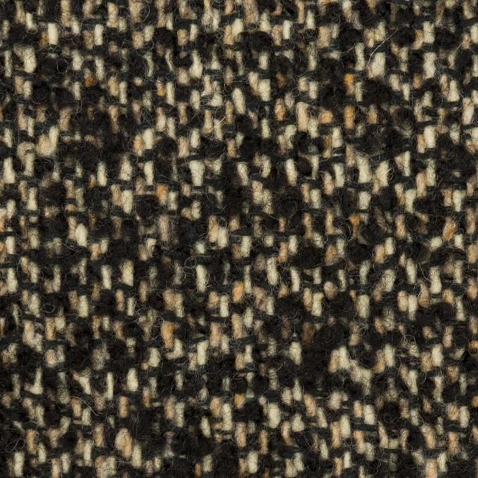 ウール&アクリル混×ミックス(ブラック&ベージュ)×ファンシーツイード_全2色 イメージ1