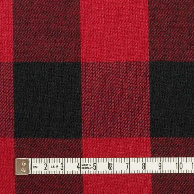 コットン×チェック(バーガンディーレッド&ブラック)×ビエラ イメージ4