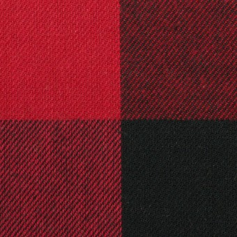 コットン×チェック(バーガンディーレッド&ブラック)×ビエラ サムネイル1