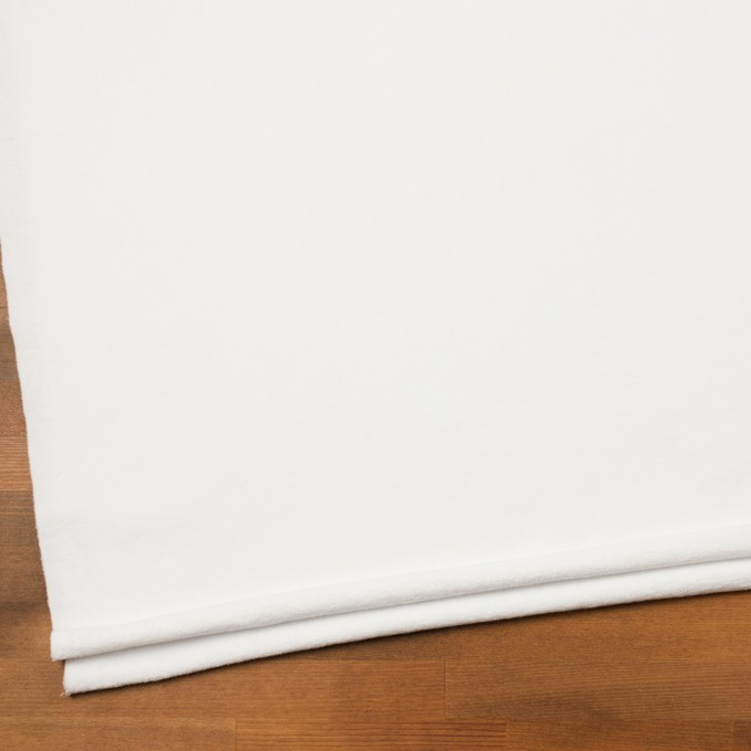 コットン&ポリウレタン×無地(ホワイト)×裏毛ニット イメージ2