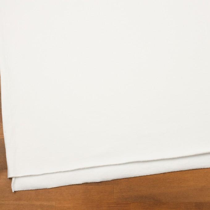 コットン×無地(オフホワイト)×裏毛ニット(裏面起毛) イメージ2