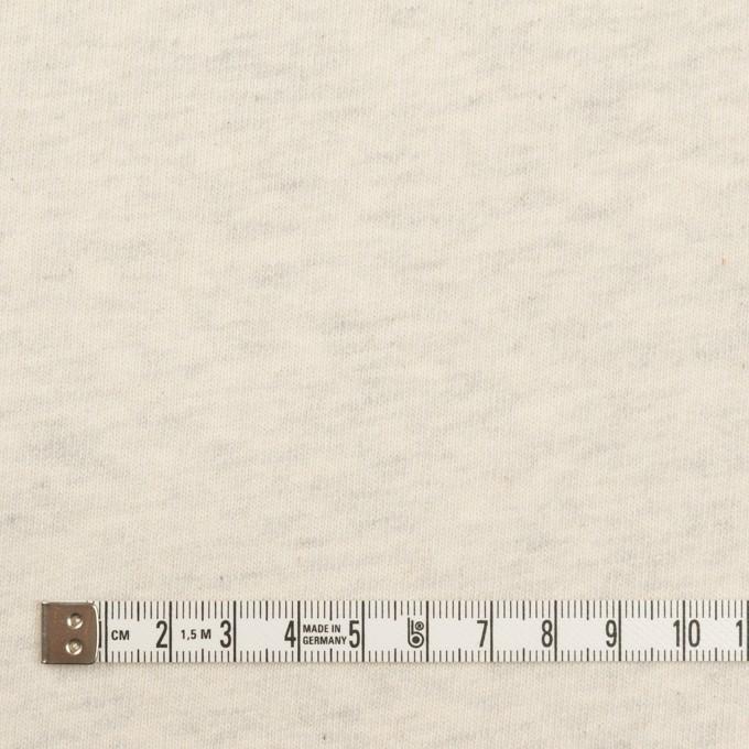 コットン×ミックス(キナリ&グレー)×裏毛ニット(裏面起毛) イメージ4