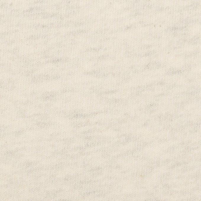 コットン×ミックス(キナリ&グレー)×裏毛ニット(裏面起毛) イメージ1