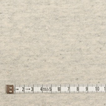 コットン×ミックス(グレー&キナリ)×裏毛ニット(裏面起毛) サムネイル4