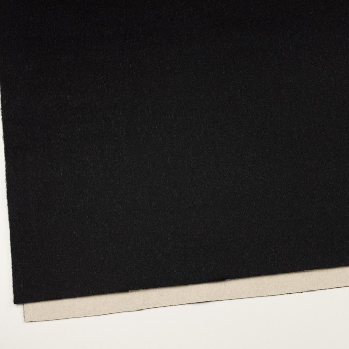 ウール&カシミア×無地(ブラック&バニラ)×ビーバー(Wフェイス) イメージ2
