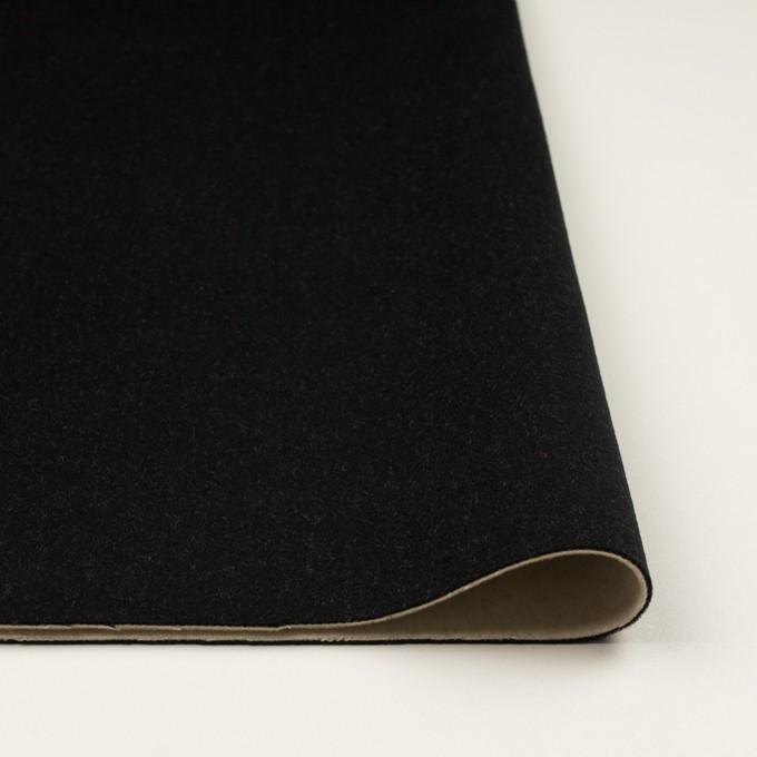 ウール&カシミア×無地(ブラック&バニラ)×ビーバー(Wフェイス) イメージ3