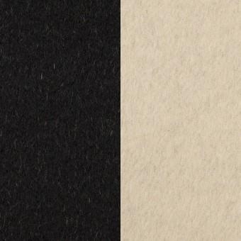 ウール&カシミア×無地(ブラック&バニラ)×ビーバー(Wフェイス)