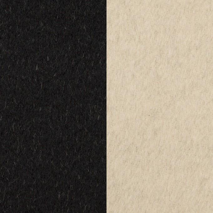 ウール&カシミア×無地(ブラック&バニラ)×ビーバー(Wフェイス) イメージ1